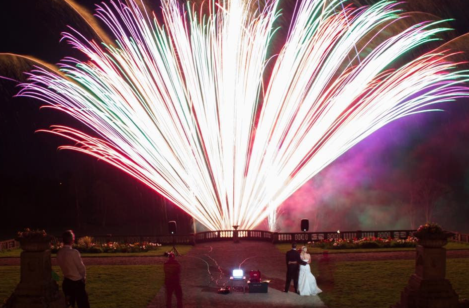Orchardleigh Quiet Wedding Fireworks