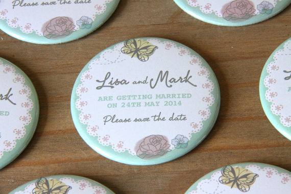 butterfly save the date magnets