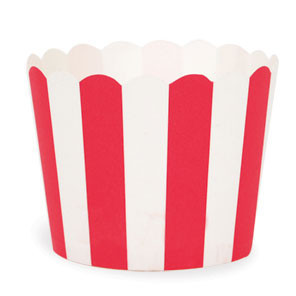 Red Stripe Baking Cups