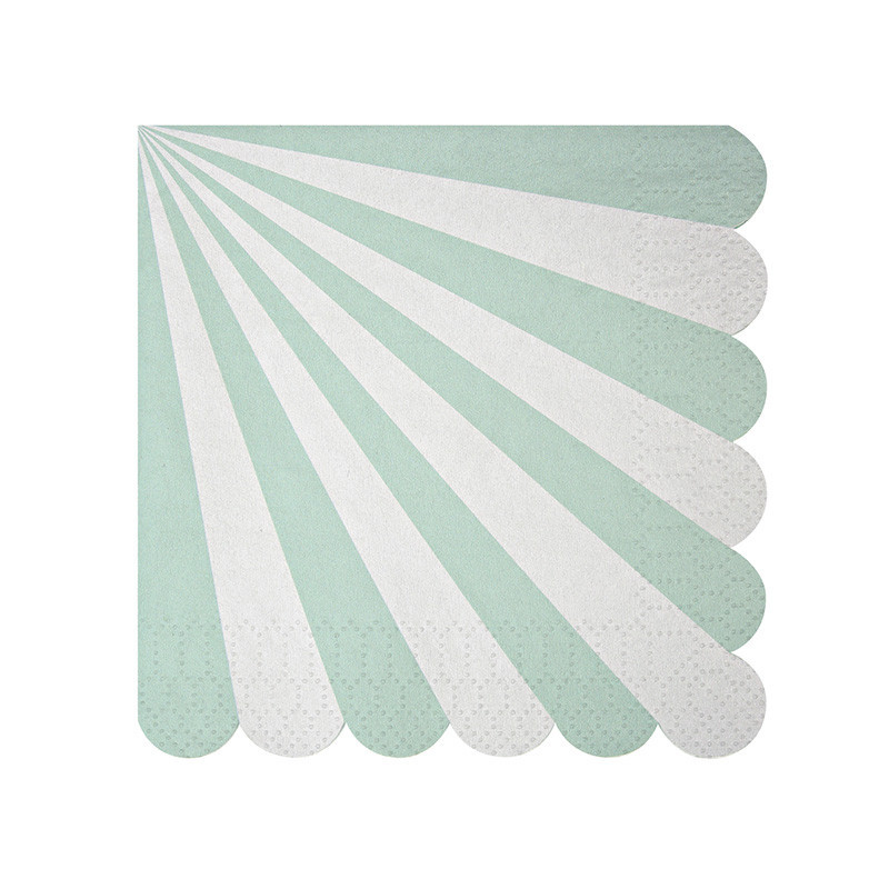 mint striped napkins meri meri