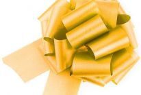 Product image for Gold Easy-tie Pull-Bows / Ribbon Bows For Weddings And Parties / Pack Of 20