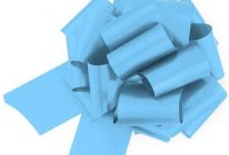 Product image for Pale Blue Easy-tie Pull-Bows / Ribbon Bows For Weddings And Parties / Pack Of 20