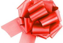 Product image for Red Easy-tie Pull-Bows / Ribbon Bows For Weddings And Parties / Pack Of 20