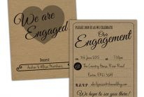 Product image for 'Vintage Rustic' Engagement Invitations / Fill In Your Own Details / Pack Of 20