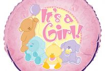 "Product image for Pink 18"" Foil Helium Balloon / It's A Girl"