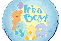 "Product image for Blue 18"" Foil Helium Balloon / It's A Boy"