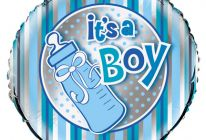 "Product image for 18"" Foil Helium Balloon / Blue Bottle - It's A Boy"