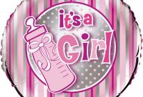 "Product image for 18"" Foil Helium Balloon / Pink Bottle - It's A Girl"