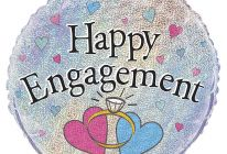 "Product image for 18"" Round Foil Helium Balloon / Happy Engagement"
