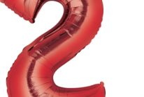 Product image for Giant Red Foil Balloon #2
