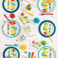 Product image for Happy Birthday Balloon Themed Partyware
