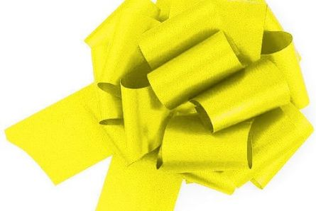 Yellow Easy-tie Pull-Bows / Ribbon Bows For Weddings And Parties / Pack Of 20
