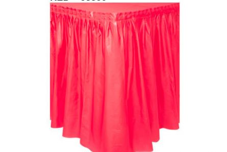 Plastic  Table Skirt (14 Ft X 29 In) / Red