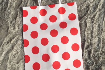Red Polka Dot Favour Bags / Pack Of 12